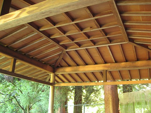 Seattle Japanese Garden Azumaya Roof Discover Nikkei