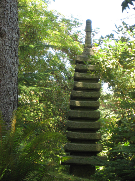 Stone Pagoda At The Seattle Japanese Garden Discover Nikkei