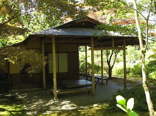 Shoseian teahouse at the seattle japanese garden for Japanese back garden