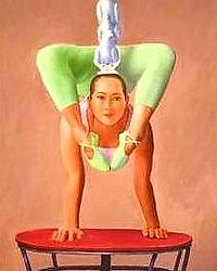 contortionist 21 x 35 oil on canvas 1992 1996 contortionist 1992 1996
