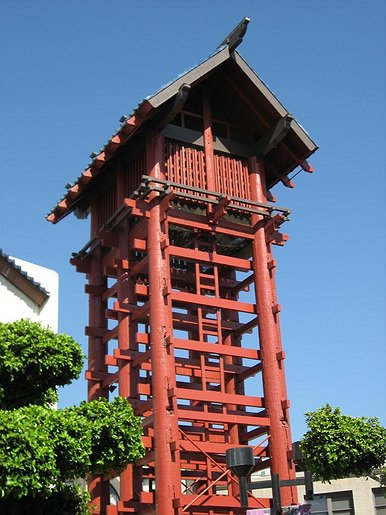 Terms Of Use >> Japanese Village Plaza Fire Tower in Los Angeles' Little ...