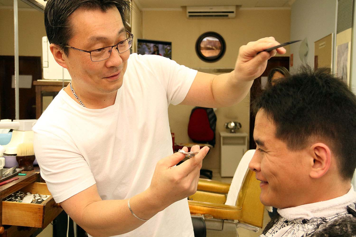 Japanese Barber Shop In So Paulo Discover Nikkei