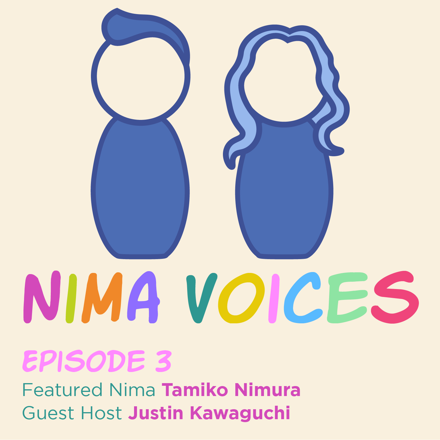 Nima Voices: Episode 3 with featured Nima: Tamiko Nimura and guest host: Justin Kawaguchi
